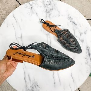 Free People Dana Woven Pointed Toe Flats Sandals